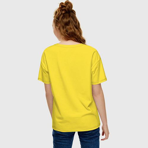 Женская футболка оверсайз The Beatles: break down / Желтый – фото 4