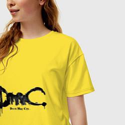 Футболка оверсайз женская Эмблема Devil May Cry цвета желтый — фото 2