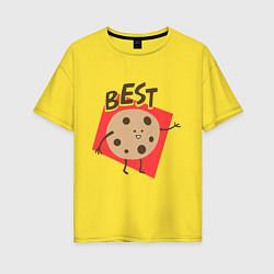 Футболка оверсайз женская Печенька цвета желтый — фото 1