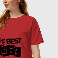 Футболка оверсайз женская The best of 1969 цвета красный — фото 2