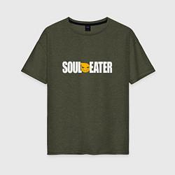 Женская футболка оверсайз Soul Eater: White