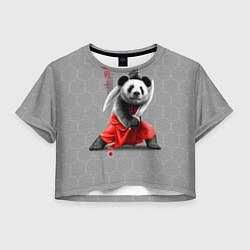 Футболка 3D укороченная женская Master Panda цвета 3D — фото 1