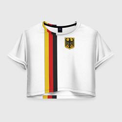 Футболка 3D укороченная женская I Love Germany цвета 3D-принт — фото 1