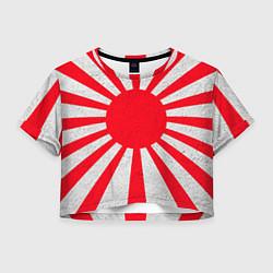 Футболка 3D укороченная женская Япония цвета 3D — фото 1