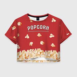 Футболка 3D укороченная женская Popcorn цвета 3D — фото 1