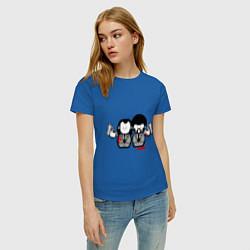 Женская хлопковая футболка с принтом Криминальное Чтиво, цвет: синий, артикул: 10011213500002 — фото 2