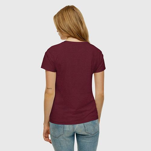 Женская футболка Crimea / Меланж-бордовый – фото 4