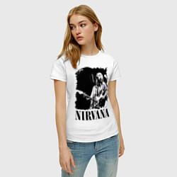 Футболка хлопковая женская Black Nirvana цвета белый — фото 2