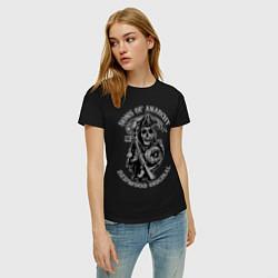 Футболка хлопковая женская Sons of Anarchy: Redwood Original цвета черный — фото 2