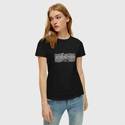 Футболка хлопковая женская Joy Division цвета черный — фото 2