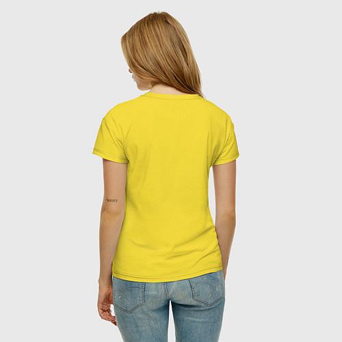 Женская футболка Made in 1990 / Желтый – фото 4