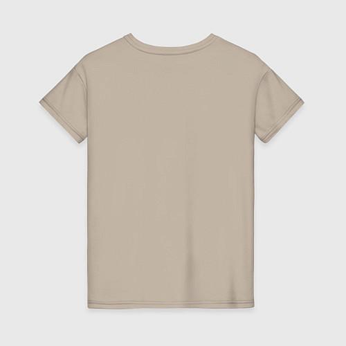 Женская футболка Со мной сложно / Миндальный – фото 2