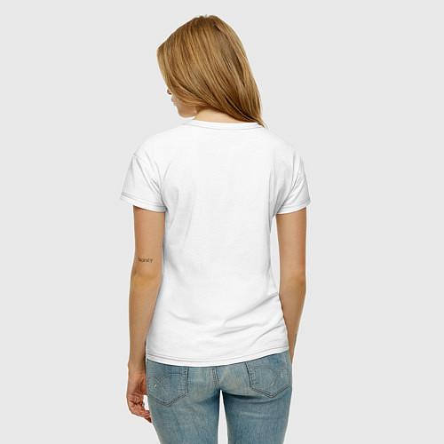 Женская футболка Да, я с ней / Белый – фото 4