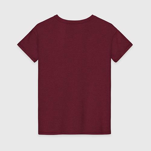 Женская футболка The Beatles Revolution / Меланж-бордовый – фото 2