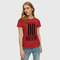 Футболка хлопковая женская Made in the 00s цвета красный — фото 2