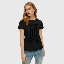 Футболка хлопковая женская Made in the 60s цвета черный — фото 2