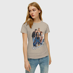Футболка хлопковая женская Riverdale heroes цвета миндальный — фото 2