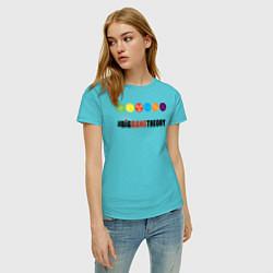Футболка хлопковая женская Big Bang Theory цвета бирюзовый — фото 2