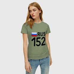 Футболка хлопковая женская RUS 152 цвета авокадо — фото 2