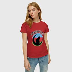 Футболка хлопковая женская Азербайджан цвета красный — фото 2