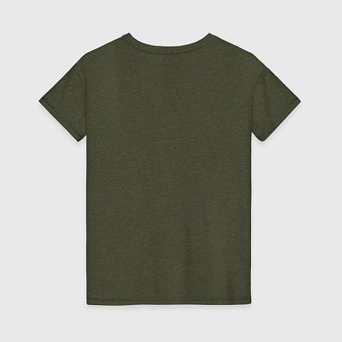 Женская футболка Если друг оказался вдруг / Меланж-хаки – фото 2