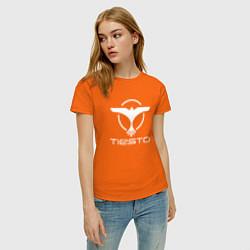 Футболка хлопковая женская Tiesto цвета оранжевый — фото 2