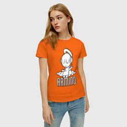 Футболка хлопковая женская Armind цвета оранжевый — фото 2