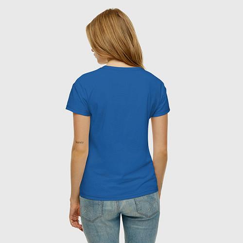 Женская футболка Yoga Fly / Синий – фото 4