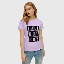 Футболка хлопковая женская Fall Out Boy: Words цвета лаванда — фото 2